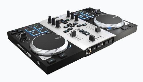 controlador dj hercules air party mesa controladora luz usb