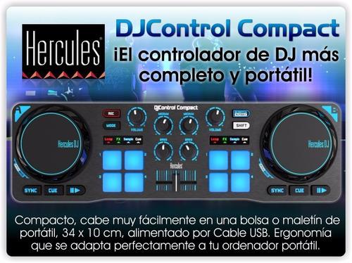 controlador dj hercules compact