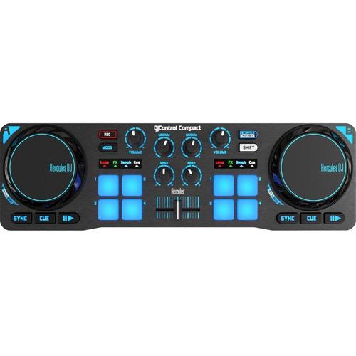 controlador dj hercules compact · consola dj portátil usb