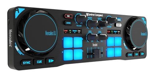 controlador dj hercules djcontrol compact + envio + cuotas