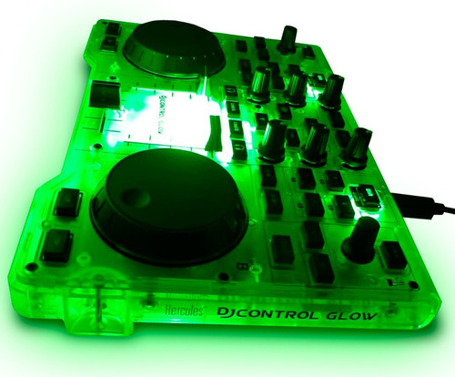 controlador dj hercules djcontrol glow controller usb