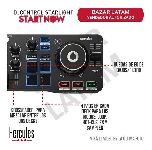 controlador dj hercules starlight consola mixer audio