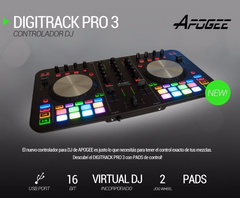 Controlador Dj Mixer Apogee Digitrack Pro 3 Usb Virtual Dj
