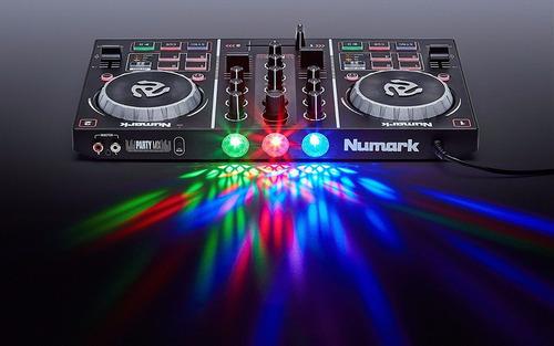 controlador dj numark party mix  2 canales iluminación