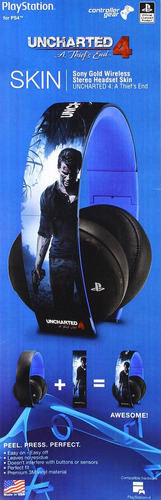 controlador gear uncharted 4 a thief's end - sony gold wi