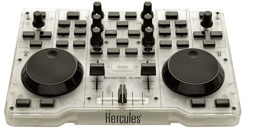 controlador hercules dj glow green mp3 luz led - alma music-
