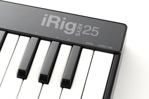 controlador ik multimedia irig keys 25 usb teclado  25 tecla