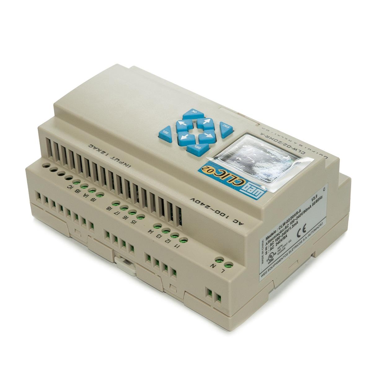 c8f4c385104 Controlador Logico Programavel Weg Clw-02 20hr-a 3rd - R  1.350