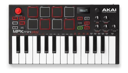 controlador midi mpk mini play teclado usb 25 teclas pads dj