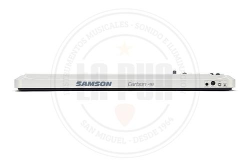 controlador midi usb samson carbon 49 - 49 teclas