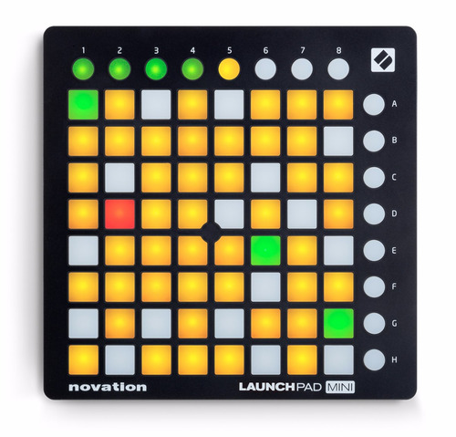 controlador novation ableton launchpad mini mkll superficie
