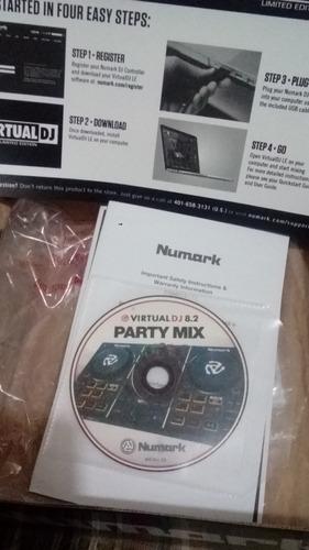 controlador numark  dj party mix 2 canales