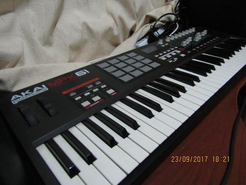 controlador piano midi akai mpk 61