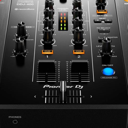 controlador pioneer ddj-400 portatil 2 canales rekordbox dj