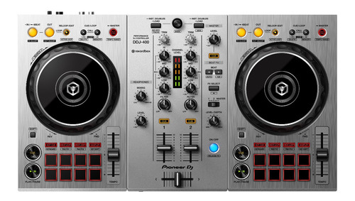 controlador pioneer dj ddj-400 rekordbox white