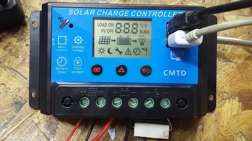 controlador regulador solar 10 a !!  digital !!