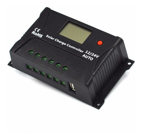 controlador regulador solar 20a, display lcd, usb sr-hp2420