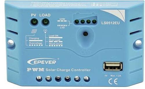 controlador regulador solar epever ls0512eu 5a usb