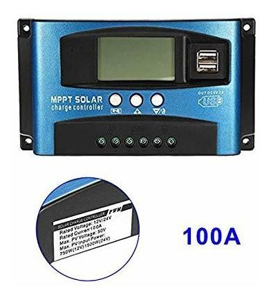 controlador solar 100a 12v/24v tecngia mppt pregunte x stop