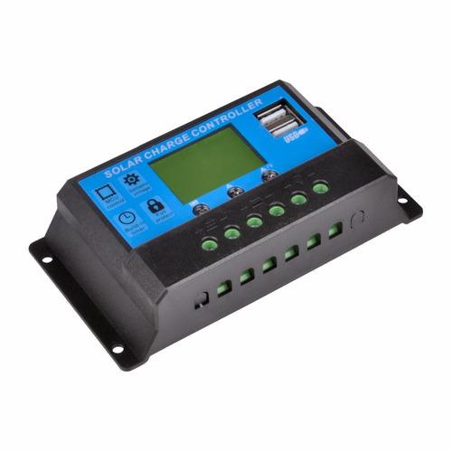 controlador solar 30a con 2usb compra 3 y de regalo 1 mp3