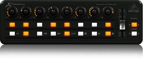 controlador superficie control fader behringer x-touch mini