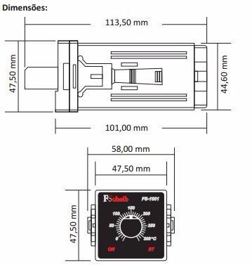 controlador termostato digital/analógico temperatura fornos