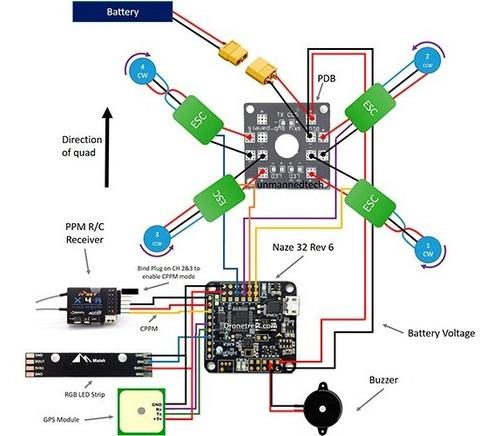 controladora de vuelo naze32 rev6 dof 6 - drone