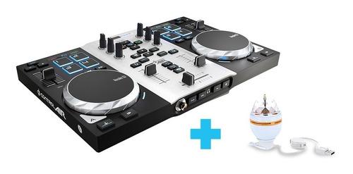 controladora dj hercules dj air placa de sonido party pack