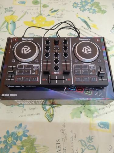 controladora dj numark party mixcon rack incluido