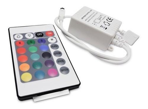 controladora rgb control remoto 24 teclas apto tira led 5050