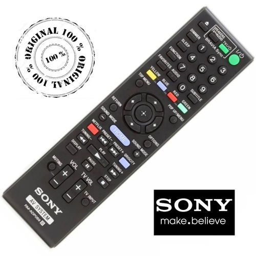 controle 100% original sony rm-adp069 bdv-n990w  bdv-nf620