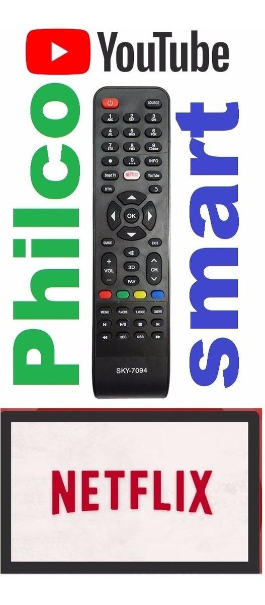 Controle Tv Philco Smart Tecla Netflix Globo Play You Tube ...