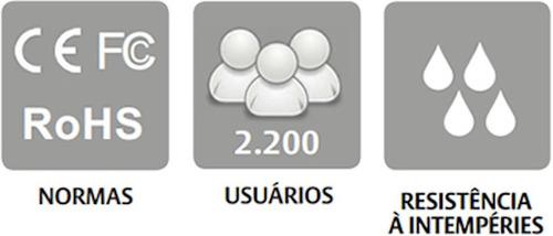 controle acesso biométrico & mifare tf1700-m - uso ext/int