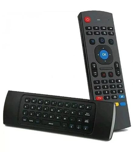 controle air mouse sem fio c/ teclado p/ android e smart tv