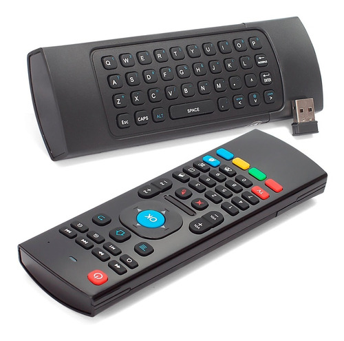 controle air mouse teclado smart tv pc mx-3 sensor movimento