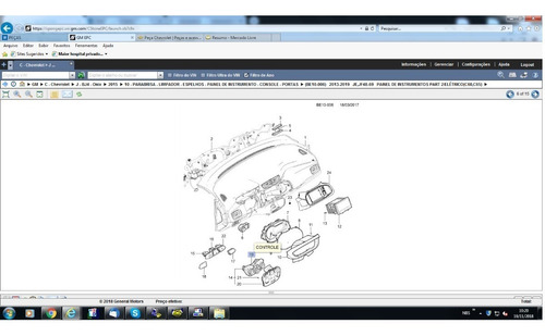 controle ar condicionado onix/prisma/cobalt 13/15 - 52041273