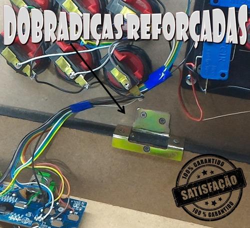 controle arcade fliperama duplo slim pc/play3/play4/rasp