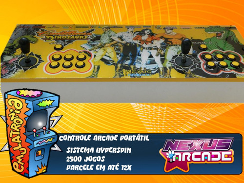 controle arcade fliperama portáril multijogos 12x sem juros
