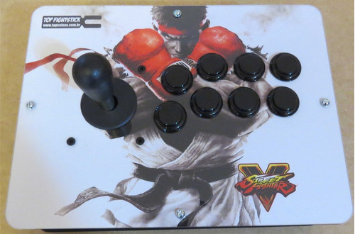 controle arcade ps4 ps3 pc com fio e acrilico!!!