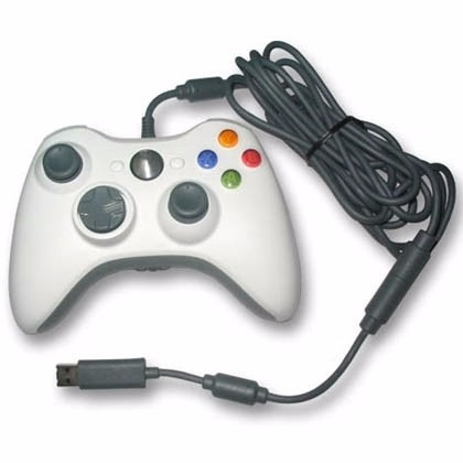 controle com fio xbox 360 e pc slim joystick original