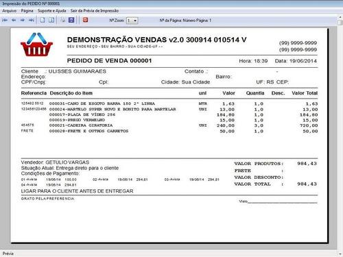 controle de estoque financeiro caixa pedido de vendas v2.0