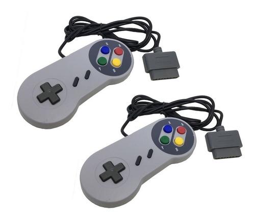 controle de super nintendo snes joystick super pad - kit 2un