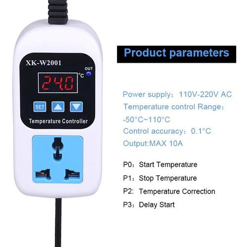 controle de temperatura termostato digital com tomada
