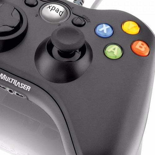 controle dual shock xpad pc/xbox360 - js063 - multilaser