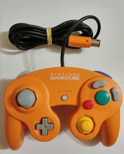 controle game cube original japonês laranja!! raríssimo!!