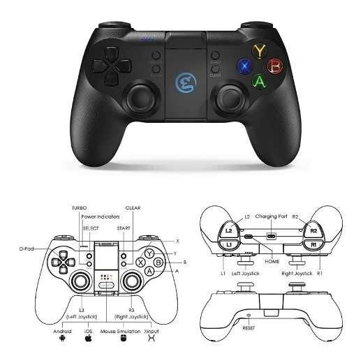 Controle Gamesir T1 Ps3 Pc Wireless Android Windows Gamepad