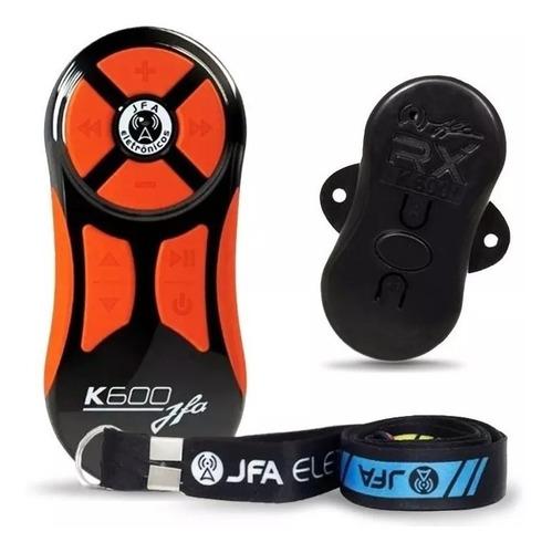 controle longa distância jfa k600 + central preto / laranja