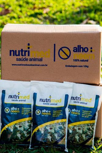 controle moscas, carrapatos e verme  caixa 10kg  nutrimed
