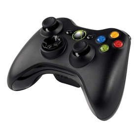 Controle Original Microsoft Preto - Xbox 360 Usado Sem Fio