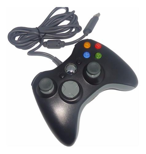 controle p/ xbox 360 c/ fio x360